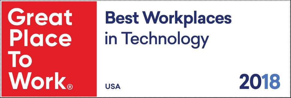 2018 Best Place to Work Tech